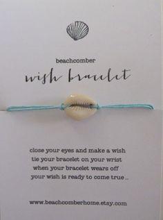 beachcomber wish bracelet or anklet  lucky by beachcomberhome, $8.00