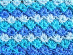 Multi-color daisy flower  |  Knitting Stitch Patterns