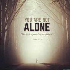 When you feel lonely, remember that you're actually not alone. Allah is there with you. Allah Quotes, Quran Quotes, Islamic Quotes, Hindi Quotes, Thank You Allah, When You Feel Alone, Cope Up, Noble Quran, Feeling Lonely