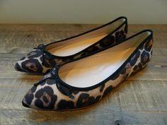 20306b9a5246 JCREW Gemma Leopard ballet flats $145 7 Shoes dusty cedar brown e0227 #JCrew  #BalletFlats #Casual