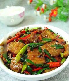 Sichuan style stew pork with bean sauce