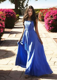 British Polo Day India Collection - Bluebell royal blue maxi dress by Beulah London