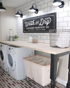 20 Excellent Laundry Room Décor Ideen um Inspiration zu sein Wohnaccessoires B… – Laundry Room İdeas 2020 Laundry Room Remodel, Laundry Decor, Laundry Room Signs, Laundry Room Organization, Laundry Hamper, Basement Laundry, Laundry Design, Laundry Closet, Laundry Detergent Storage