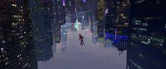 Some more keys of Miles in the city, spiderman into the spider verse. By Zac Retz Illustrations, Illustration Art, Broken Film, Video Game Artist, Color Script, Disney Concept Art, Spider Verse, Visual Development, Environmental Art