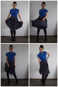 skirts are must for me :-)  Plus size, size 12, curvy, pleated skirt, necklace, romantic outfit, classic outfit