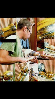 Custom hand turned Rail sleeper cane with aluminum filling. BY JMHDESIGNSSA@GMAIL.COM