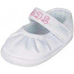Monogrammed Baby Girl Shoe -