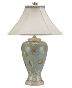 beach theme table lamps seashell night light table lamp coastal