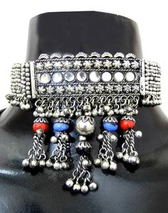 GiftPiper Oxidized Metal Navratri Jewellery Set . Pay COD (Resellers Whatsapp-9902488133)  http://www.giftpiper.com/product/oxidized-metal-navratri-jewellery-set-redblue-beads