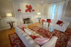 This is a David Bromstad room from Color Splash. His artwork over the fireplace.  I wish this show was still on.