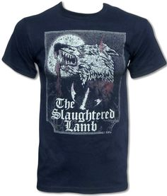 c42aabe8 The Slaughtered Lamb T Shirt (American Werewolf in London) Cult Retro  Horror Movie T Shirt - Graphic Tees For Men & Women