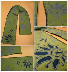 new project: alabama chanin scarf by emdot, via Flickr