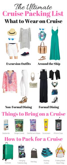 The Ultimate Cruise Packing List: Wonder what to pack for a cruise? I've made the ultimate cruise packing list! Print & download my handy cruise checklist to plan what to bring on a cruise.