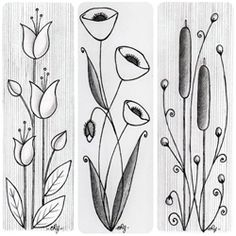 Flower Sketch.....Tina? Could you do something similar for me? I was thinking they would look cute in my kitchen.
