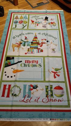 Patchwork Stoff Weihnachten, Schneeman, Winter, Stoffpaket, Panel Baumwolle USA
