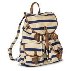 Mossimo Supply Co. Striped Backpack Handbag - Blue/Tan