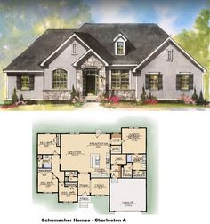 10 best Charleston Series   Schumacher Homes images on Pinterest     Schumacher Homes   Charleston A  Build on your own lot Love the floor plans  not the exterior