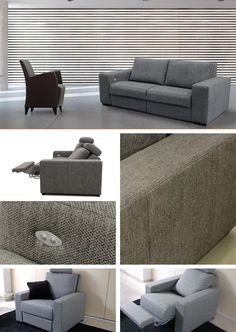 RANSOM Sofá y RISCATTO Sillón #sofa #sillon #seat #couch #deco #multiposition #greysofa #greydeco #greyspaces #amazing #design #rest #confort #grassoler #home #deco #interior