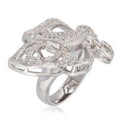 Princess Swirl Silver Ring for Women