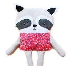 Raccoon Sewing Pattern Softie Toy Woodland Animal PDF Sewing Pattern