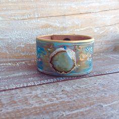 Bangles#Tooled leather cuc bracelet, Brazalete piel de Ubrique#moda#boho#estilo#cuero#echo a mano#