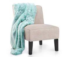 Z Gallerie chinchilla Throw Blanket