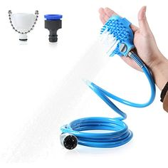 Pet Bathing Tool, Pro Pet Shower Sprayer for Massage with 7.5 Foot Hose and 2 Hose Adapters, Indoor-Outdoor Use, Dog Cat Horse Grooming >>> Read more reviews of the product by visiting the link on the image. (This is an affiliate link)