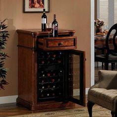 Tresanti 36 Bottle Rutherford Wine Bar In Vintage Cherry