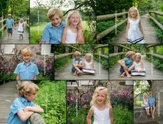 Fun session at Botanical Gardens with siblings