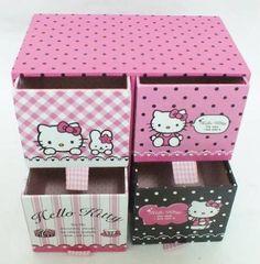 Amazon.com: Hello Kitty Amazing Jewelery Boxes / Storage Boxes Made of Cardboard New #4: Home & Kitchen