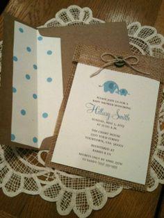 Burlap Invitation Burlap Baby Shower by CreationsBySandyh on Etsy, $3.20