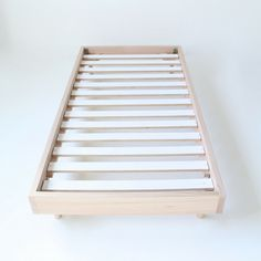 Bed Base by MuBu. We love simplicity and beds that allow your linen to shine. Our bed base is constructed using solid Vic Ash timber. King & Queen available