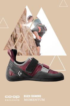 Drumroll ... this is Black Diamond's first line of climbing shoes! Designed for women's feet, the Black Diamond Momentum climbing shoes are great for new climbers.Neutral lasts and fabric uppers mean you get serious comfort and performance at the crag or the gym. Available only at REI.