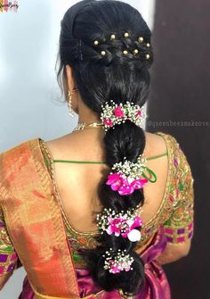 South Indian Bridal Hair Style Hairdos Ideas - New Site Bridal Hairstyle Indian Wedding, Bridal Hair Buns, Bridal Hairdo, Indian Bridal Hairstyles, Bride Hairstyles, Trendy Hairstyles, South Indian Bride Hairstyle, Bridal Braids, Ethnic Hairstyles