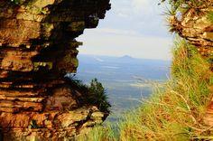 Fresta entre rochas - Chapada dos Guimarães