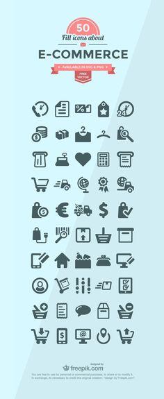 50+ E-commerce Icon Set, #E_Commerce, #Flat, #Free, #Graphic #Design, #Icon, #PNG, #Resource, #SVG, #Vector