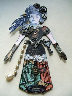 """Paper dolls would also be fitting for these events...""""Two Crafting Sisters: SteamPunk Paper Dolls"""""""