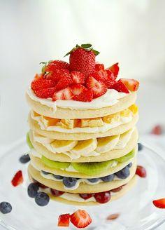 Rainbow Fruit Cookie Cake