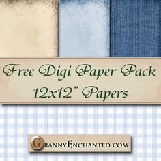 Free Denim Bear Digi Scrapbook Paper Pack  ✿ Join 6,000 others. Follow the Free Digital Scrapbook board for daily freebies. Visit GrannyEnchanted.Com for thousands of digital scrapbook freebies. ✿
