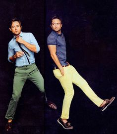I'm really getting into coloured chinos. they are so sleek.