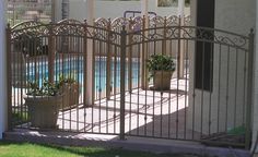 metal pool fence - Google Search