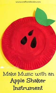 Make music with an apple shaker instrument. Fall craft for kids, apple art, back to school craft. Make music with an apple shaker instrument. Fall craft for kids, apple art, back to school craft. Fall Preschool Activities, Apple Activities, Preschool Crafts, Toddler Activities, Fun Crafts, Preschool Apples, September Activities, Kindergarten Themes, Teaching Activities
