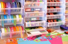 More ribbon storage ideas (some links are dead but at least I can see pics to Google where they might be found today)