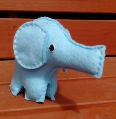 Felt Elephant, Toy Elephant, CE Tested, Soft Toy, Elephants, Blue, Childrens Toy, Boys, Girls, Nursery, Baby Shower, Felt Animals by DaisyFelts on Etsy