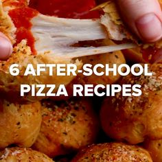 6 After-School Pizza Snack Recipes...