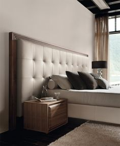 While glittering living rooms and blinding entryways are often the rule, Luxury Master Bedroom interior design is more restrained. Bedroom Furniture Design, Master Bedroom Design, Bed Furniture, Modern Bedroom, Bedroom Decor, Master Bedrooms, Pallet Furniture, Rustic Furniture, Vintage Furniture