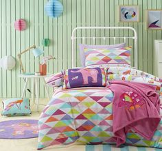 Jiggle and Giggle Peacock Princess Quilt Cover Set Range