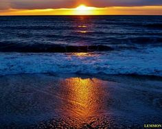 Hatteras Island Sunrise 1-27-14, photo by Lemmon.  Pinned from Facebook post.  Outer Banks NC Local Artist Page.