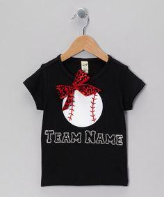 Black Baseball Team Personalized Tee