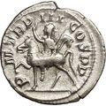 GORDIAN III riding horse 240AD Authentic Silver Ancient Roman Coin i52922